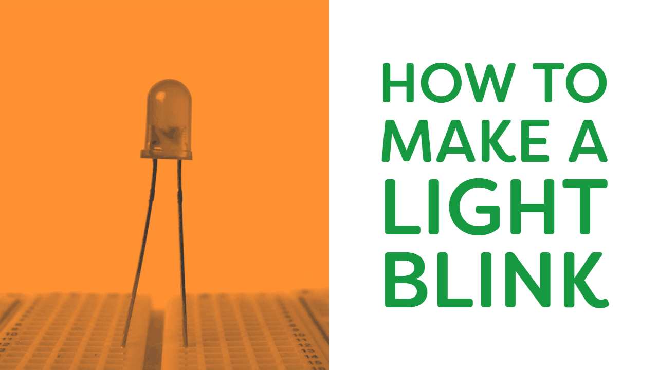Course cover for how to make a light blink