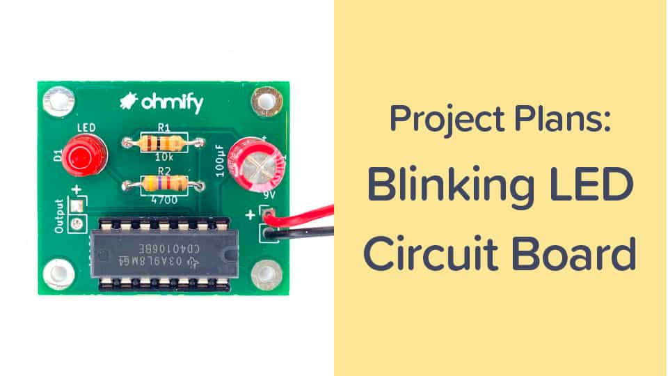 Cover for blinking LED course
