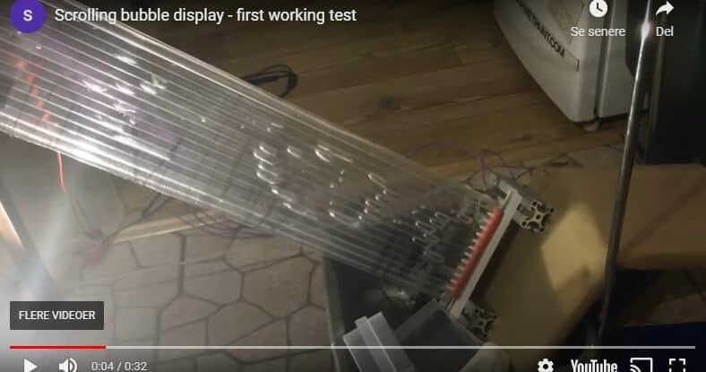 Bubble display screen capture
